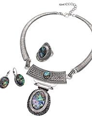 joyería de 1 collar 1 par de pendientes anillos de boda ocasión especial de Halloween de aleación diaria 1set regalos de bodas de plata