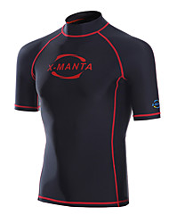 Sports Men's 2mm Wetsuit Top Breathable Anatomic Design Neoprene Diving Suit Short Sleeve Tops-Swimming Diving Summer Classic