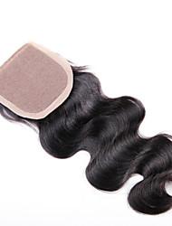 девственные бразильские шелк базовые закрытие, акции человеческие волосы шелковые база закрытие оптового