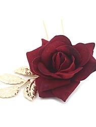Сплав металлов Ткань Заставка-Свадьба Особые случаи На каждый день Цветы Шпилька Аксессуар для волос 1 шт.