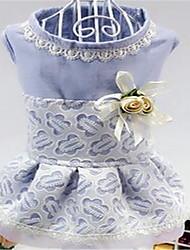Chien Robe Vêtements pour Chien Mignon Princesse Violet Rose