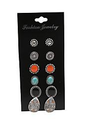 Stud Earrings Euramerican Fashion Vintage Alloy Geometric Teardrop Jewelry For Party Daily 1set