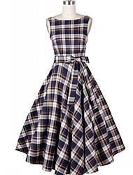 ebay modèles explosion aliexpress années 50 style rétro hepburn écossais était mince grande jupe tutu robe