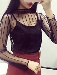 molla di guida e la maglia filato netto sexy punto dell'onda griglia prospettica trasparente sleeved merletto grande