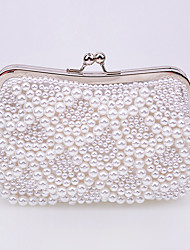 L.WEST Women's Luxury High-grade Imitation Pearl Evening Bag