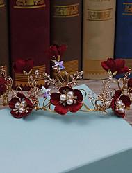 Rhinestone liga de tecido headpiece-casamento ocasião especial tiaras headbands 1 peça