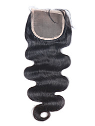 3.5X4 Lace Closure Bleached Knots Brazilian Virgin Hair Closure With Baby Hair For Black Women Free Shipping