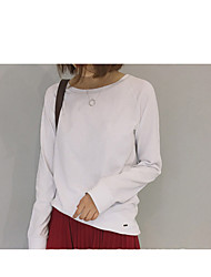 Raglan sleeve loose basic models wild cotton long-sleeved T-shirt shirt