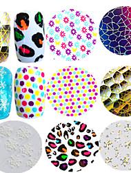 1pcs Colorful Nail Art Transfer Foils Sticker Beautiful Snowflake Lovely Colored Round Laser Cobweb Design Nail Foils Tip Nail DIY Beauty STZXK22-30