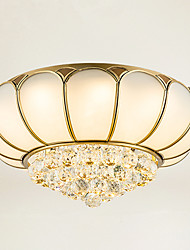 Full Copper  Crystal Ceiling Bedroom Living Room Crystal Ceiling Lamp