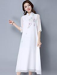 Zen handbemaltes Seidenkleid-Fankunstfrau Han-chinesisches Kleidungskleid