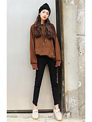 signe coréen simples pantalon noir denim mince sauvage classique pantalon crayon pieds féminins creux