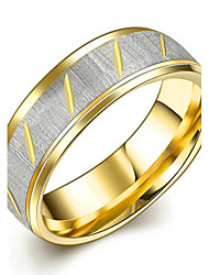 Concise Gold Colour Titanium Steel Eternity Band Wedding Ring Jewellery for Women Accessiories