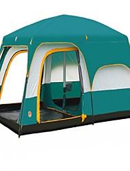 > 8 pessoas Duplo Dois Quartos Barraca de acampamentoEquitação Campismo Viajar-Verde