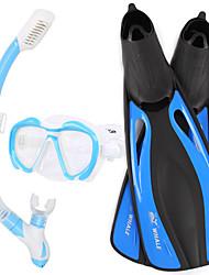 Kit para Snorkel Mergulho e Snorkeling Vidro Borracha Silicone-WHALE
