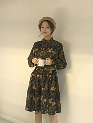 Sign ~ oversized chiffon floral dress skirt waist rope containing