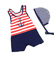 Boys' Stripes Striped Swimwear,Spandex