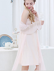 Damen Babydoll & slips Nachtwäsche,Spitze einfarbig-Nylon Mittelmäßig Damen