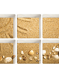 Quicksand Shells 3D Bathroom Non-Slip Stickers The Floor Tile Individuality Decorative Stickers