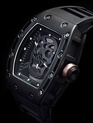 New Luxury Brand Skull Watch Men Richard Style Quartz Silicone Skeleton Wrist watches Men's Sport Waterproof Creative Watch Black Relogio Masculino