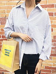 Значок Heygirl Heige свежие осень корейской системы шикарная рубашка тонкие полоски