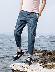 Хорошее качество 2017 новый мужской ши галун джинсы ноги свободные брюки гонконг японский ветер 06-