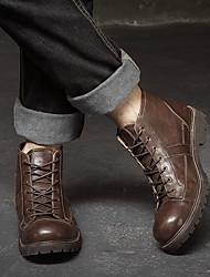 homens&# 39; s novo inverno de fundo pesado de couro botas altas botas grandes sapatos martin botas botas botas britânico homens de