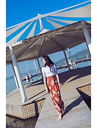 Women's High Rise Going out Midi Skirts Bodycon Solid Floral Spring Summer