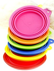 Cat Dog Bowls & Water Bottles Pet Bowls & Feeding Foldable Yellow Red Green Blue Blushing Pink