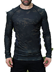 Men's Tops Hunting Leisure Sports Waterproof Breathable Windproof Wearable Spring Summer Fall/Autumn Winter Black