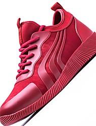 Masculino-Tênis-Conforto Solados com Luzes-Rasteiro-Preto Vermelho-Tule-Ar-Livre Para Esporte
