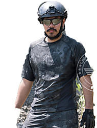 Men's Tops Hunting Leisure Sports Waterproof Breathable Windproof Wearable Spring Summer Fall/Autumn Black