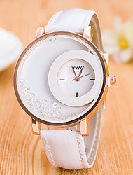 Mulheres Relógio Esportivo Relógio Elegante Relógio de Moda Relógio de Pulso Simulado Diamante Relógio Mostrador Grande QuartzoCouro