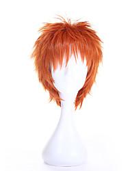 cosplay venta de la manera pelucas sintéticas corto peluca rizada de color marrón para las mujeres