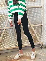Знак минималистский мода волна край джинсы брюки женские ноги карандаш брюки выращивание диких нетто