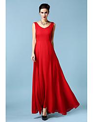 zhang xin yuans même paragraphe avant et après la vente mince v-cou sur une grande jupe veste jupe longueur robe en mousseline de soie