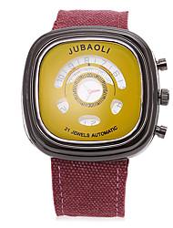 JUBAOLI Men's Sport Watch Quartz Fabric Band Black
