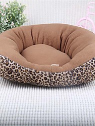 Cat Dog Bed Pet Bed Soft Pad Leopard Fabric