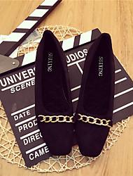 Damen-High Heels-Lässig-Wildleder-Blockabsatz-Komfort-Schwarz Braun