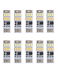 Brelong dimming usb 3w 6x5730 noite luz toque toque toque cor dupla luz (dc5v) 10pcs