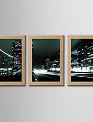 Estampados Fotográfico Famoso Paisagem Clássico Realismo,3 Painéis Horizontal Panorâmica Impressão artística Decoração de Parede For