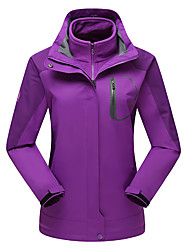 Women's 3-in-1 Jackets Waterproof Thermal / Warm Windproof Fleece Lining Dust Proof Breathable Double Sliders 3-in-1 Jackets Woman's