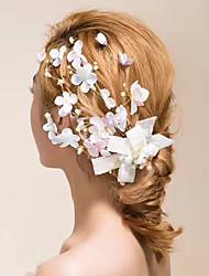 Handmade Satin Crystal Tulle Fabric Headpiece-Wedding Outdoor Fascinators Flowers Wreaths Hair Clip 1 Piece