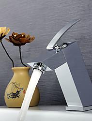 Contemporâneo Arte Deco/Retro Moderno Montagem em Plataforma Termostática Chuveiro Tipo Chuva Spray Amplo with  Válvula Cerâmica