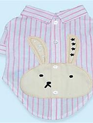 Hunde T-shirt Hundekleidung Frühling/Herbst Streifen Lässig/Alltäglich Blau Rosa Hellblau