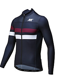 MYSENLAN® Cycling Jersey Men's Long Sleeve Bike Breathable Quick Dry Jersey Polyester Classic Fashion Spring Summer Fall/Autumn
