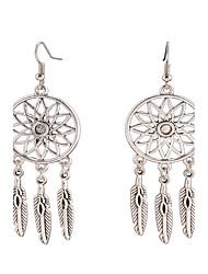 Dangle Earrings Jewelry Alloy Dangling Style Pendant Tassel Tassels Vintage Bohemian Euramerican Fashion Jewelry Feather Silvery Jewelry