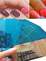 1pcs Sweet Beautiful Lace Design Stamping Plate Nail Stainless Steel Stamping Plate Colorful Design Manicure Beauty Stencils Nail Tool BC01-10