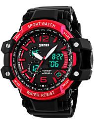 SKMEI 1137 la femme de montres hommes montagne montre de sport en plein air important double escalade imperméable mâle montre électronique