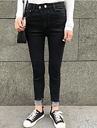 Spring wild really making ~ skinny jeans torn edge Twill significantly thin leg pants women